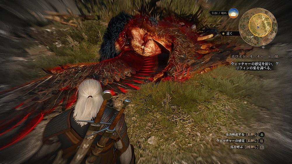 グリフィンの死体 - Witcher 3