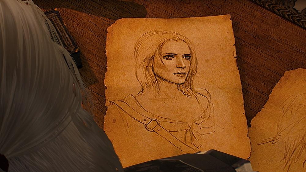 報告書のシリの似顔絵 -Witcher 3