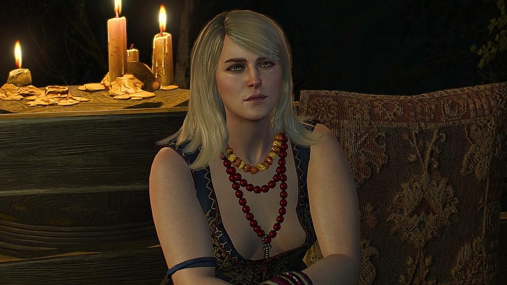ゲラルトの話を聞くキーラ - Witcher 3