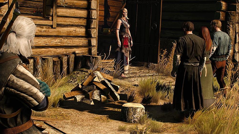 魔女の家に集まる村人 - Witcher 3