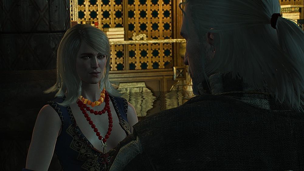キーラに話を聞くゲラルト - Witcher 3