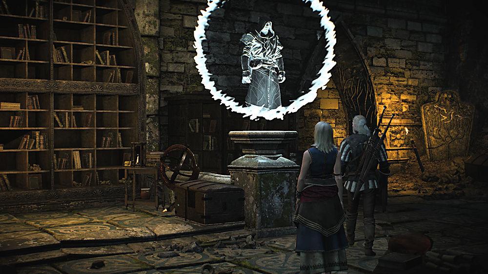 3度目の仮面のエルフの形態投影 - Witcher 3