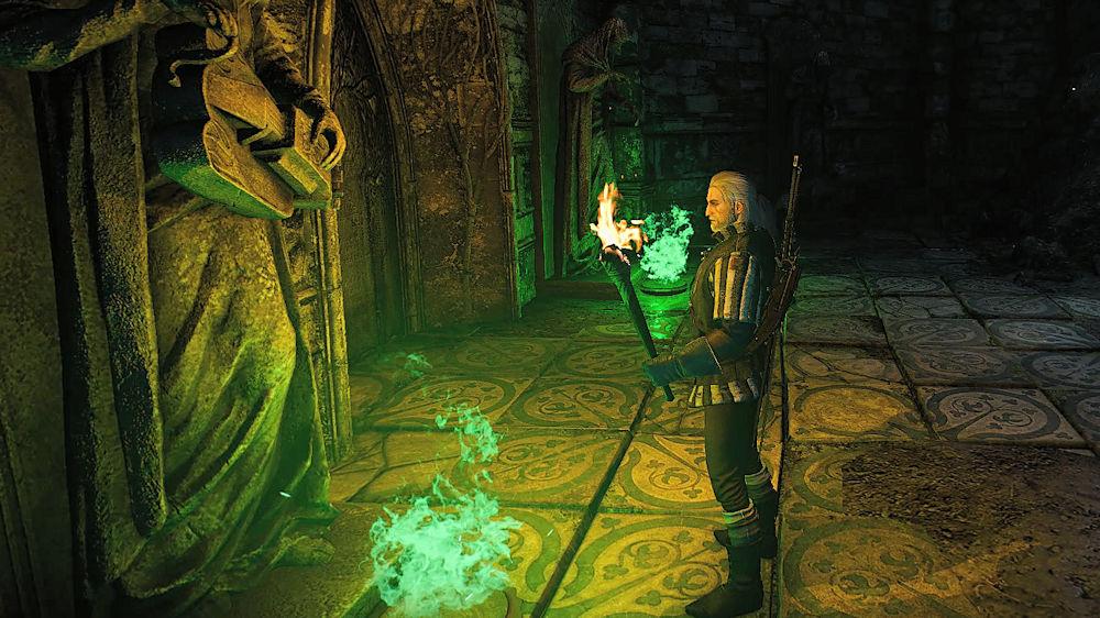 謎を解くゲラルト - Witcher 3