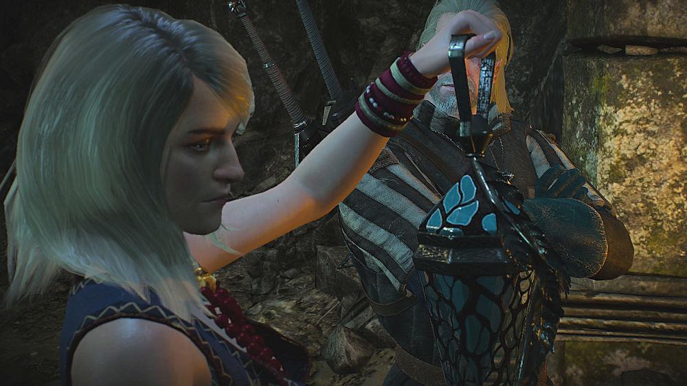 魔法のランプを見つけたキーラ - Witcher 3