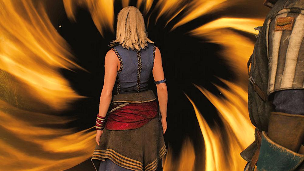 魔法で瞬間移動するキーラ - Witcher 3
