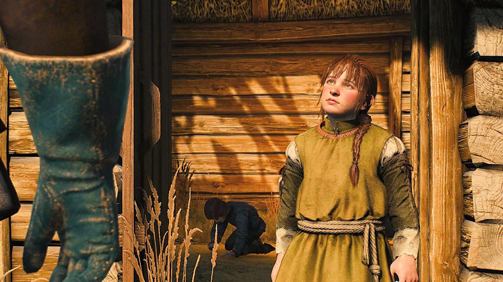 家の中から出てきた女の子 - Witcher 3