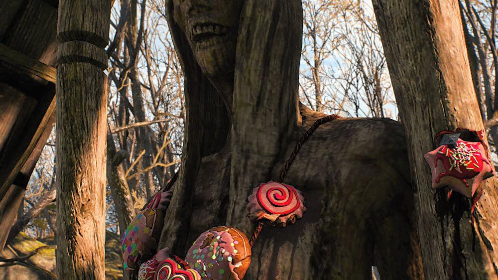 お菓子をかけられた奇妙な像 - Witcher 3