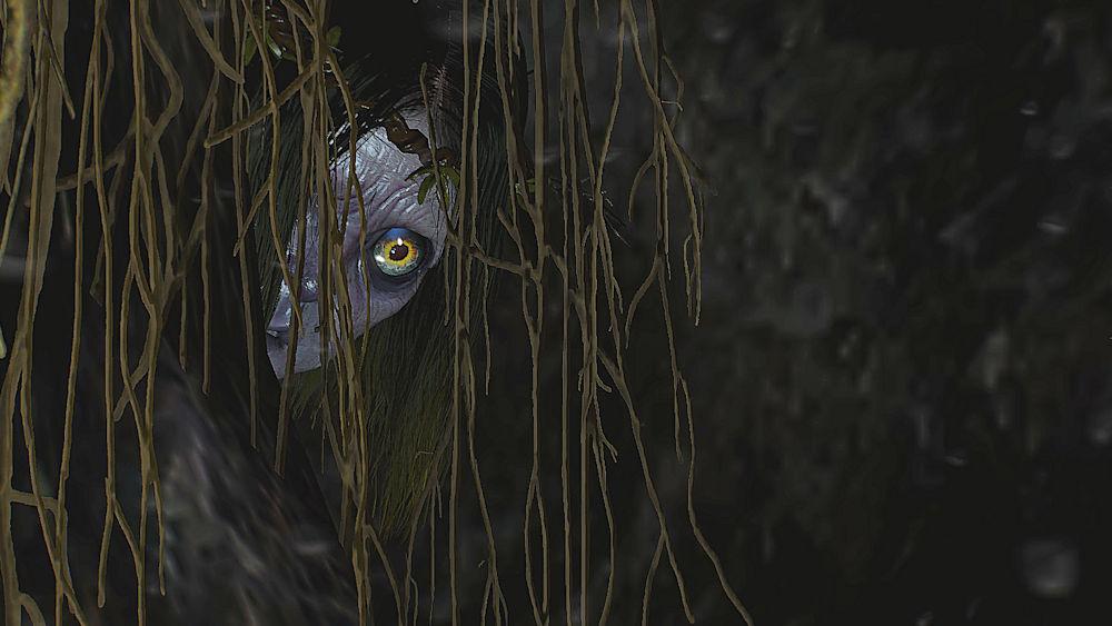 穴の中から姿を見せる「ジョニー」 - Witcher 3