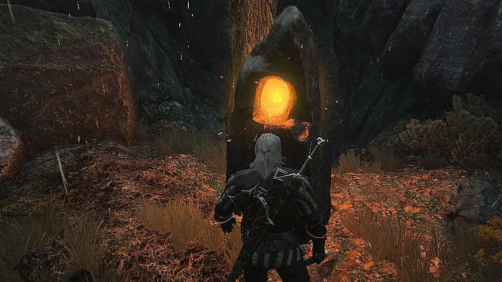 「囁きの丘」の近くの「力の場」 - Witcher 3