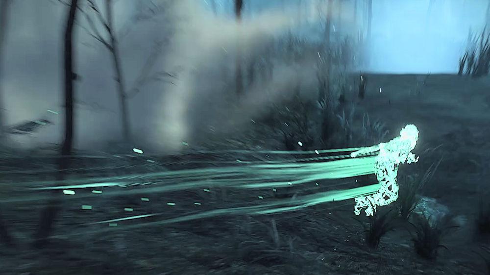 光の筋になって怪物を回避する「シリ」 - Witcher 3