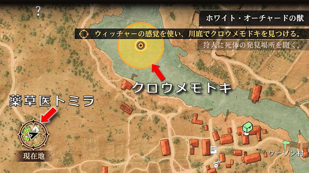 クロウメモドキの場所 - Witcher 3