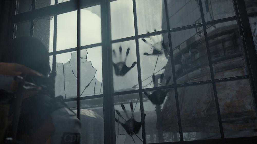 焼却場の窓に現れたBTの手形 - Death Stranding